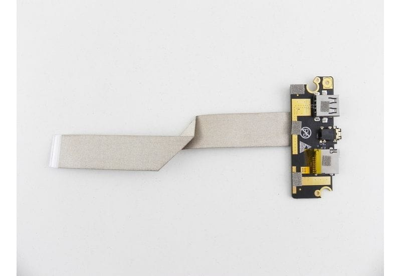 "KREZ N1403B 14"" Плата разъемов USB / microSD / Audio с кабелем"