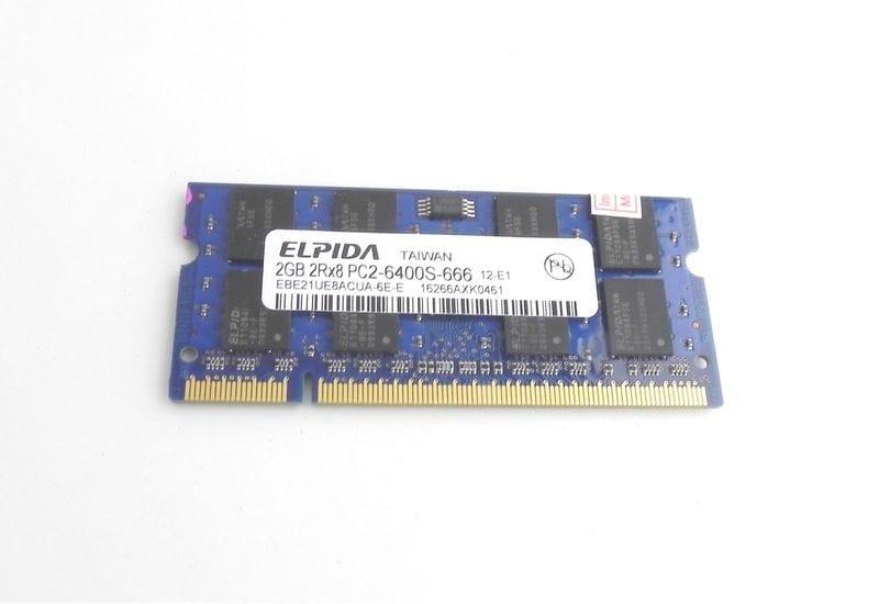 Оперативная память ELPIDA SODIMM DDR2 2GB 2Rx8 PC2-6400S-666