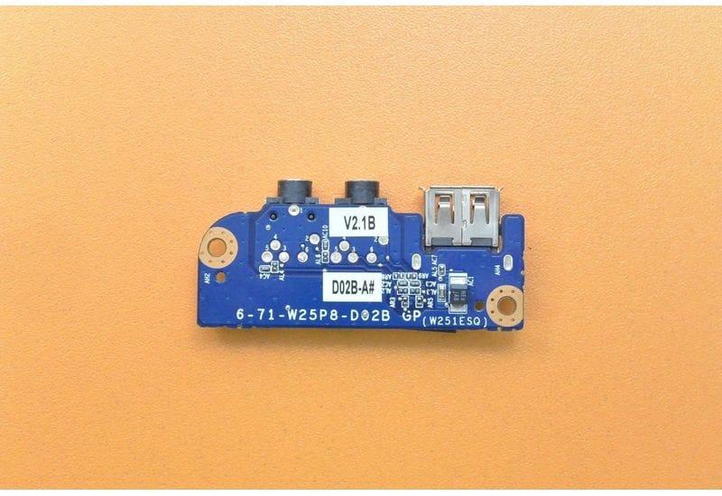 Clevo W270HUQ W270EFQ плата с портами аудио и USB 6-71-W25P8