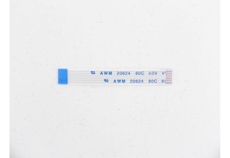 Шлейф плоский FFC/FPC-кабеля Flexible flat 6 пин, шаг 1,00мм, длина 52мм, обратный