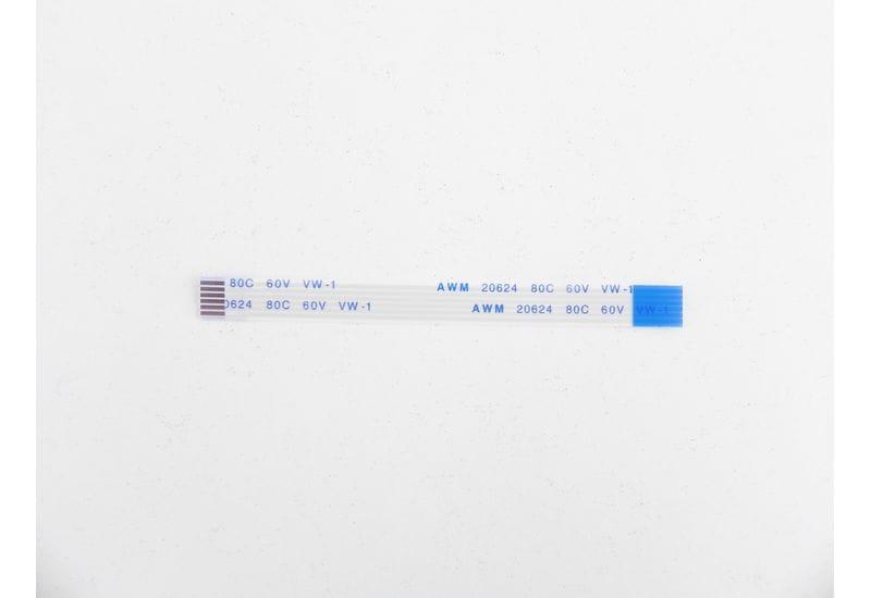 Шлейф плоский FFC/FPC-кабеля Flexible flat 6 пин, шаг 1,00мм, длина 80мм, обратный