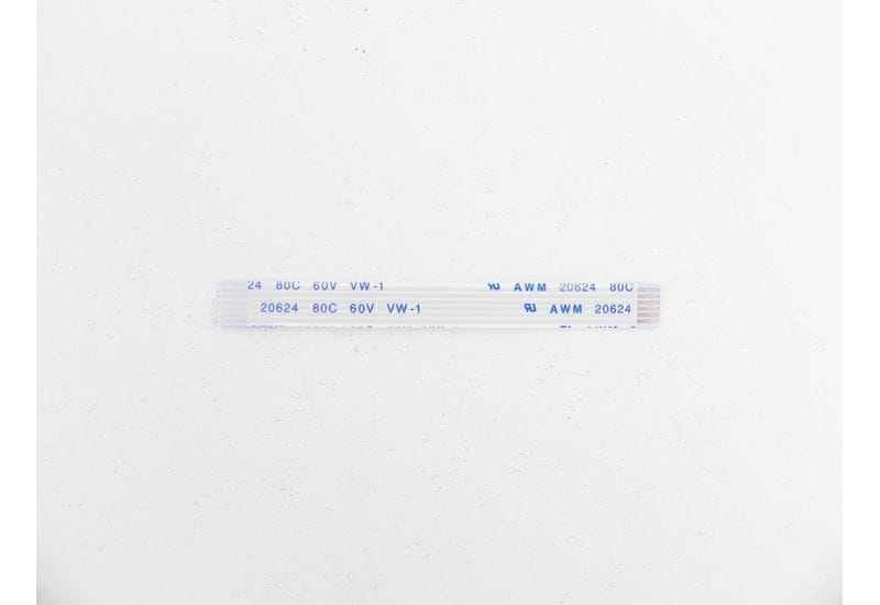 Шлейф плоский FFC/FPC-кабеля Flexible flat 6 пин, шаг 1,00мм, длина 70мм, прямой