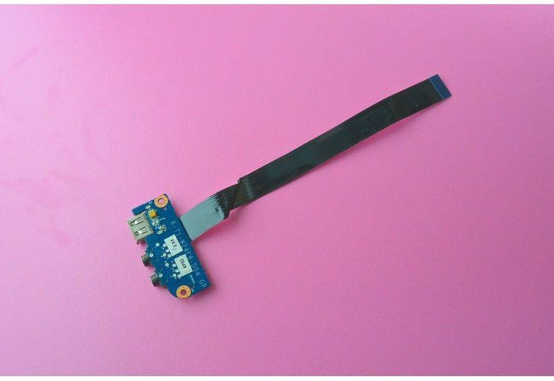 Clevo W244EUQ DNS W258ELQ 0151559 Плата разъемов аудио и USB с кабелем 6-71-W24E8-D04